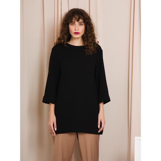Black & black blouse W20B8054-0