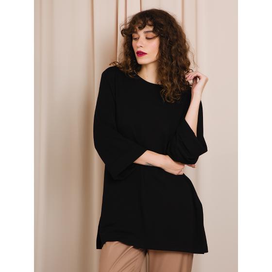 Black & black blouse W20B8054-1