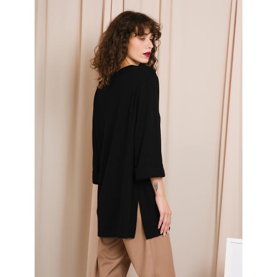 Black & black blouse W20B8054-2