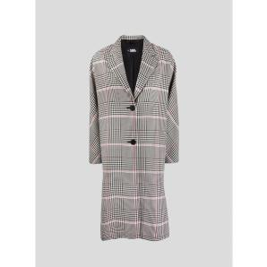 KARL LAGERFELD CHECK SOFT TAILORED COAT 215W1404