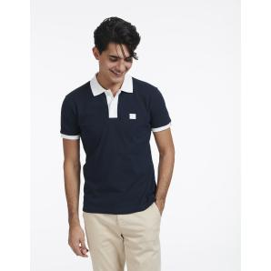 LES DEUX Rivierre Polo SS - Dark Navy/White