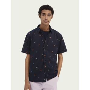 SCOTCH&SODA Printed short-sleeved Hawaiian shirt 160800