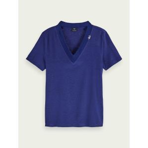SCOTCH & SODA Short sleeve V-neck T-shirt 157062