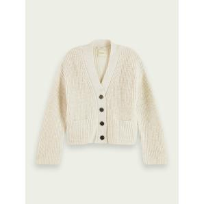 SCOTCH & SODA Rib knit wool-Alpaca blend cardigan 159208