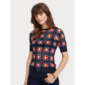 Scotch & Soda Short Sleeved Crocheted Sweater 156236