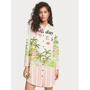 Scotch & Soda  Holiday Print Shirt Dress 155969