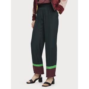 Scotch & Soda Wide Leg Colour Block Trousers 156393