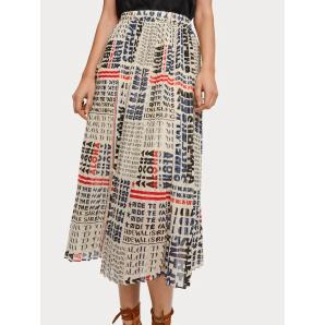 Scotch & Soda Pleated Chiffon Skirt 155992