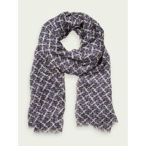 SCOTCH & SODA Lightweight printed scarf 154084