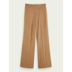 SCOTCH & SODA Wide leg wool-blend pants 159077