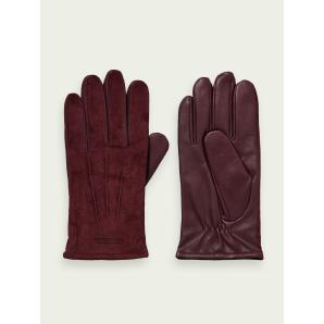 SCOTCH & SODA Leather and suede gloves  158732