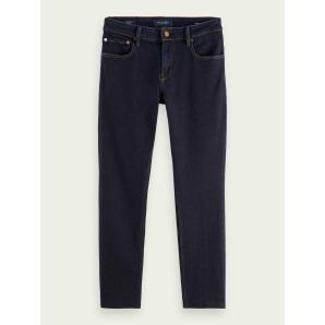 SCOTCH & SODA Skim Plus cropped super-slim fit recycled cotton jeans - Stay Dark 159619