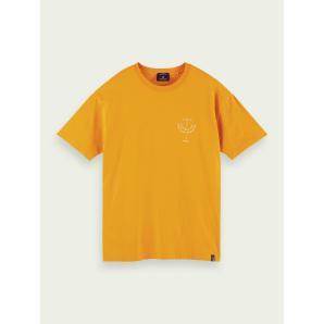 SCOTCH & SODA Artwork print crewneck organic cotton T-shirt 160848