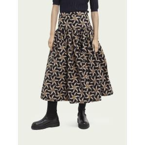 SCOTCH & SODA Printed voluminous tiered skirt 161615