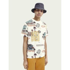 SCOTCH & SODA Printed cotton T-shirt 160850