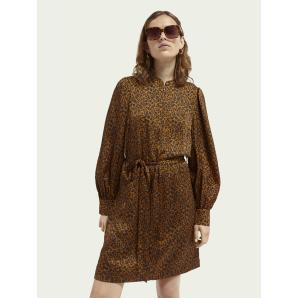 SCOTCH & SODA Printed belted dress 161935