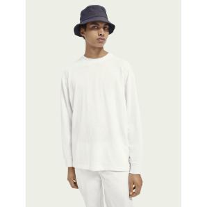 SCOTCH&SODA Relaxed-fit linen-blend T-shirt 160836