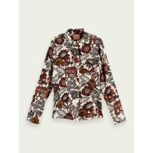 SCOTCH & SODA Slim-fit button-down organic cotton blend shirt 161485
