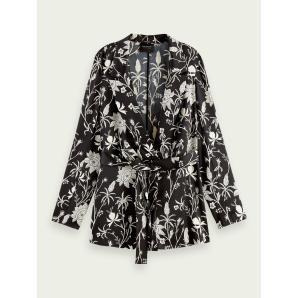 SCOTCH & SODA Printed pyjama blazer 161657