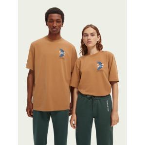 SCOTCH & SODA Organic cotton graphic T-shirt