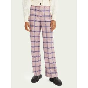 Scotch & Soda Edie tailored wide-leg checked trousers
