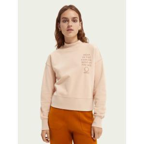Scotch & Soda Crewneck organic cotton cropped sweater