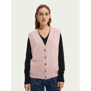 Scotch & Soda Fuzzy buttoned sweater vest