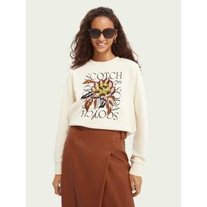 Scotch & Soda Regular-fit embroidered sweater