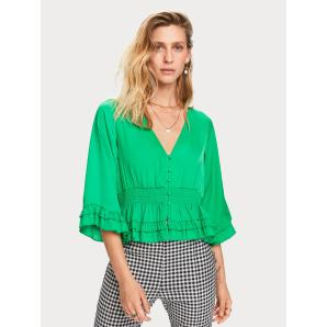 Scotch & Soda Ruffled Satin Top 156569