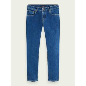 SCOTCH & SODA Skim cropped - Blauw Sails  Mid-rise super slim jeans 156677