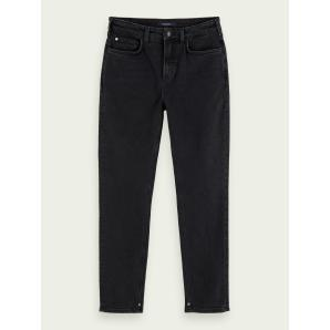 SCOTCH & SODA High Five - Black Butter High-rise slim fit jeans 158766