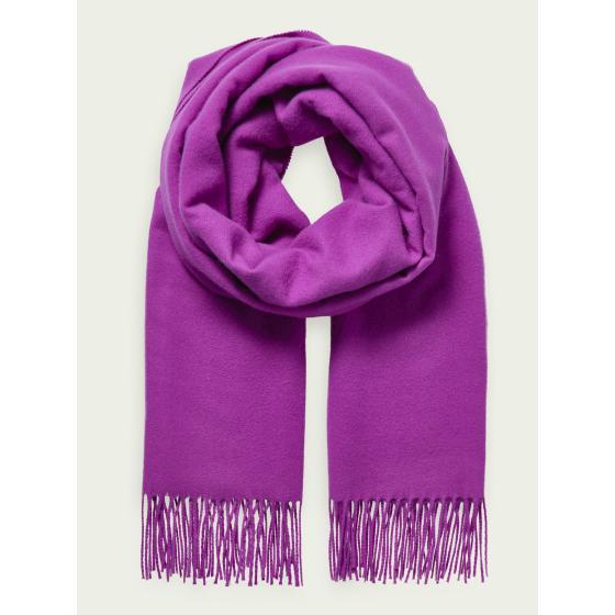 SCOTCH & SODA Unisex wool-blend fringe scarf 159346-0
