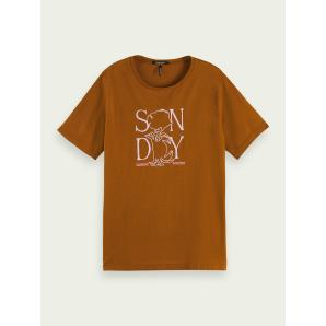 SCOTCH & SODA Graphic organic cotton T-shirt 161701
