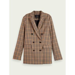 SCOTCH & SODA Longer length double-breasted blazer 159465