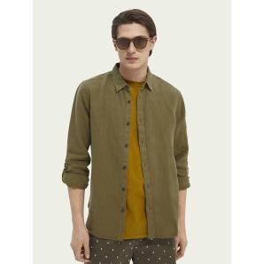 SCOTCH&SODA Garment-dyed linen shirt 160775