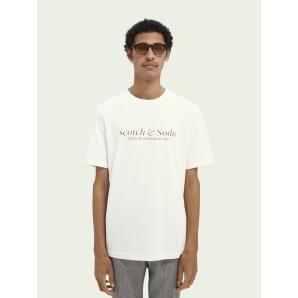 SCOTCH & SODA Cotton jersey logo T-shirt 160860