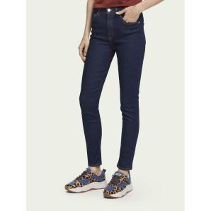 Scotch & Soda Haut - French Blue  High-rise skinny fit jeans 156971