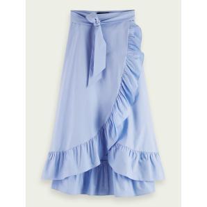 SCOTCH & SODA Maxi wrap organic cotton skirt 161601