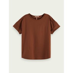 SCOTCH & SODA Basic mercerised T-shirt 161721