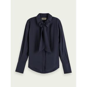 SCOTCH & SODA Bow neck long sleeve shirt 158888