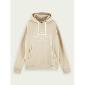 Scotch & Soda long sleeve branded hoodie 156782