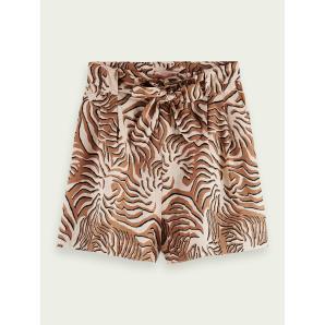 SCOTCH & SODA Printed linen shorts 162200