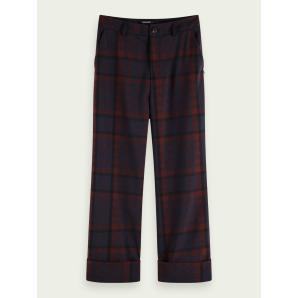 SCOTCH & SODA Tailored mid-rise check pants 159075
