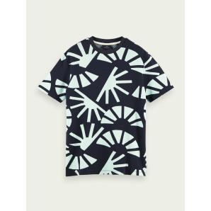SCOTCH & SODA 100% cotton signature jacquard t-shirt 156814