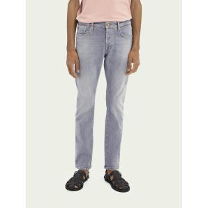 SCOTCH & SODA Ralston regular slim fit cotton blend jeans - Pop Of Smoke 159662