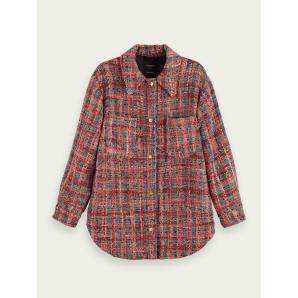 SCOTCH & SODA Wool-blend tweed shirt jacket 159197-0596