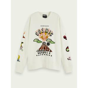 SCOTCH & SODA Cotton-blend artwork sweatshirt 160483