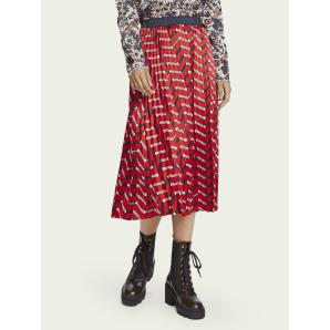 SCOTCH & SODA Printed pleated midi skirt 157009-0218