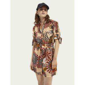 SCOTCH & SODA Short printed jumpsuit 161795
