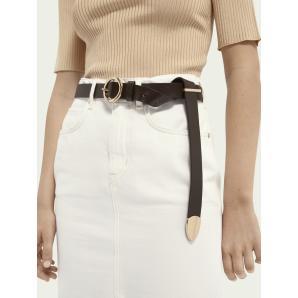 SCOTCH & SODA Leather wrap belt 160020